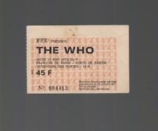 The Who Vintage Concert Ticket Ancien Billet 17-05-1979 Pavillon de Paris France