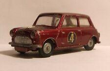 1960s Corgi Toys 226 Morris Mini Minor maroon BMC approx. 1/43 scale