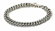 Chain Bracelet Bangle Diamond Cut Jewelry Style Bikers Punk Goth Rock