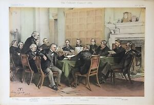 Original Vanity Fair Print 1913  'Collapse Of The Conference'  - Politicians