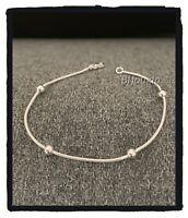 Bracelet maille serpent et boules Argent Massif 925/1000 Bijoux Femme NEUF