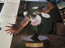 Franklin Mint  Clash of the Sky Kings  Sculpture   New In Box with COA