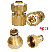 """4PCS Brass Auto Water Stop Fit Female Hose Pipe Connector Hoselock Clip 1/2"""""""