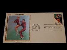 Vintage Cover,1984 FDC,LAKE PLACID,NY,COLORANO SILK,Winter Olympics,Figure Skate