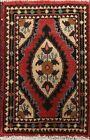 Vintage Tribal Geometric Oriental Traditional Area Rug Handmade Wool 1x2 Foyer