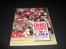 ORIGINAL OHIO STATE FOOTBALL PROGRAM VS. LSU  SEPTEMBER 24,1988