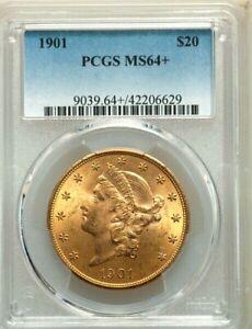 "1901 $20 GOLD * PCGS MS64+ "" PLUS "" LIBERTY Head DOUBLE EAGLE Dollar * $4,000+++"