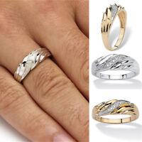 New Charm Women Wedding Diamond Jewelry Twisted Band Ring Crystal
