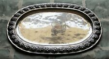 Large Sanborns (Mexico) Hand Hammered Sterling Desert Rose Oval Tray c. 1955