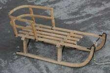 Wood Sled Rodel-Schlitten With Backrest (Removable) - Stable - Approx. 4,8 KG H