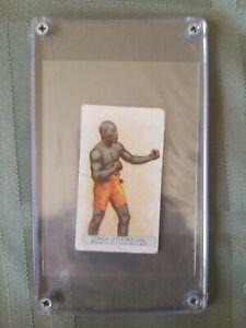 1911 W.D. & H.D. Wills Jack Johnson Scissors Back Vintage Boxing Card