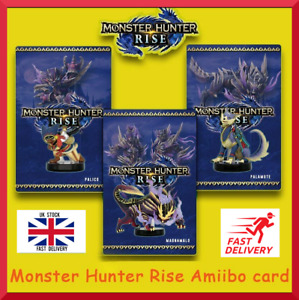 3 Monster Hunter Rise Amiibo Card Nintend switch/Lite Palamute Palico Magnamalo