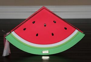 💚 KATE SPADE Splash Out Watermelon Clutch Bag Purse Summer Handbag NWT