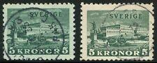Sweden 1931Royal Palace at Stockholm Scott 229 Used Toned & White Paper Cv$45+