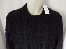 NEW Mens RALPH LAUREN Heavy Knit Warm Black Cotton JUMPER Pullover XL  £259