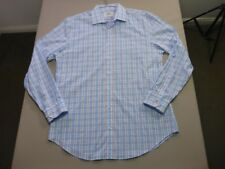 078 MENS NWOT BEN SHERMAN KINGS SLIM FIT WHT / BLUE L/S SHIRT SZE XXL $130 RRP.