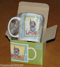 Gary Patterson Art - Cat in Fish Bowl - Leanin' Tree Gift Mug - New in Box