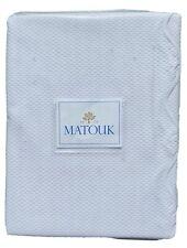 MATOUK Full Queen LANAI White Scalloped Coverlet Bedspread Quilt NEW $248