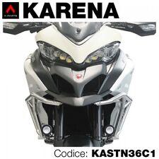 Kit 2 fari led vetro zigrinato+staffe x Ducati Multistrada 950/1200 enduro 2017