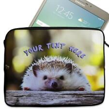 "Personalised Tablet Case HEDGEHOG Neoprene Sleeve Cover 7"" 8"" 9"" 10"" 11"" KS05"