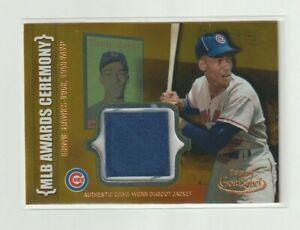 2002 Topps GOLD LABEL Ernie Banks GAME WORN DUGOUT JACKET Chicago Cubs HOF KH