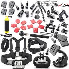 Essential Accessories Kit for Gopro hero 5 Session 4 hero 3 hero 3+ Black Silver