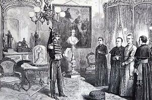 Catholic Church 1875 CARDINAL McCloskey COUNT MAREFOSCHI Antique Print Matted
