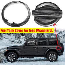 YorkingDirect Gas Tank Cap Cover Fuel Filler Cover Door Aluminum for 2007-2016 Jeep Wrangler JK 2-Door 4-Door