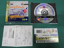 Sega Saturn -- Wipe Out -- included spine card & postcard. *JAPAN GAME!!* 16223
