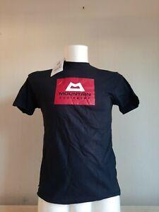 Mountain Equipment men's red box logo tee black xx-small