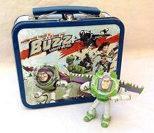 "Buzz Lightyear 5"" Metal Lunchbox & 3"" Figure Disney Toy Story VGUC"