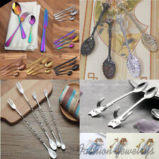 Stainless Steel Cutlery Set Fork Knife and Spoon Tableware Coffee Kitchen Tool