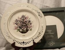 1996 Lenox Colonial Bouquet Massachusetts the Second Colony Plate With Box