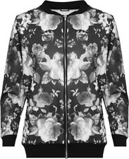 Bomber Polyester Plus Size Coats & Jackets for Women