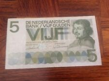 5 Nederland Gulden Banknote dated 1966
