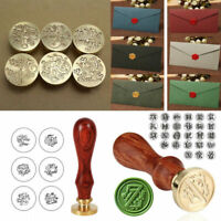 Retro Handle Wooden Wax Gifts Seal Stamp Alphabet Letter Envelope Sealing Gift