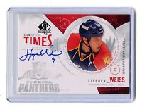 2009-10 SP Sign of the Times #ST-SW Stephen Weiss Panthers Autographed jh10