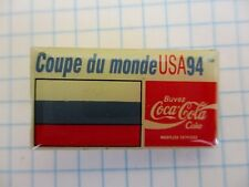FLAG RUSSIA PIN BADGE DRAPEAU RUSSIE FOOT CUP 94 COCA COLA VINTAGE PINS us4/3