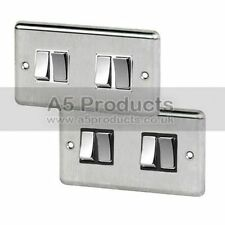 4-Gang Brushed Light Switche Home Electrical Fittings