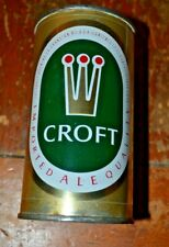 Croft Ale 2 Panel Flat Top Beer Can Nice Condition