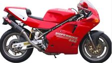 Ducati 851/888 Silmotor Round Carbon Exhaust System Silencers Slipon Homologated