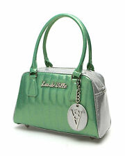 Lux de Ville V8 Small Car Tote Silver and Baby Green Sparkle Purse