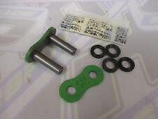 EK Motorcycle Chain Rivet Type Joining Link - 525 SRX / SRX2 X-Ring NEW - Green