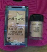 NEW Wet n' Wild Color Megaglo Highlighting Rose Gold Bar with Free Pigment