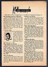 1954 Tv Article~Brandon de Wilde~Pinky Lee~Uncle Win Stracke~Garfield Goose~