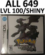 Pokemon White DS lite DSi XL All 649 LvL 100 Shiny 3DS