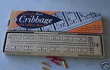 Vintage Wood Cardinal Cribbage Game MIB LOOK