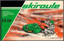 VINTAGE 1970'S SKIROULE RTE-440 SNOWMOBILE OWNERS MANUAL NEW  (521)