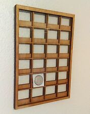 Coin / Stamp Collection 2x2 Wall Display Holder Case with Protective Glass Front