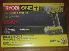 Ryobi ONE+ P1870 18V Impact Driver Kit (includes P102 battery+P119 charger) NEW!